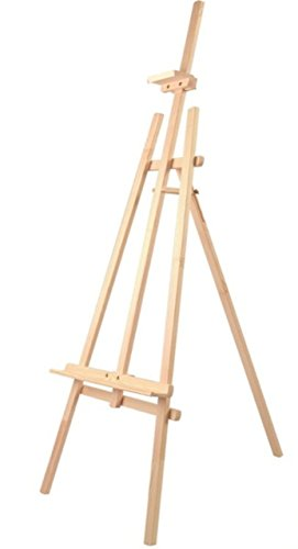 Solagua Caballete de Madera de Pino Color Natural para Pintar o Soporte de Carteles en Todo Tipo de Eventos,transportable Ligero y Estable (140 cm, Natural)