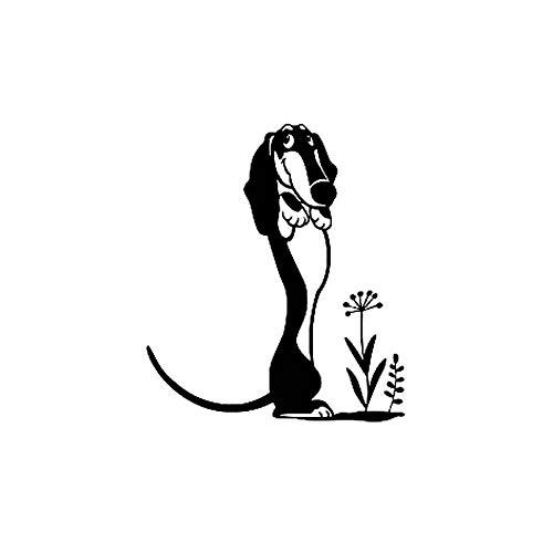 HENJIA Vinilo Decorativo Coche Steck Perro de Dibujos Animados Cachorro Mascota 12,2 CM x 14 CM