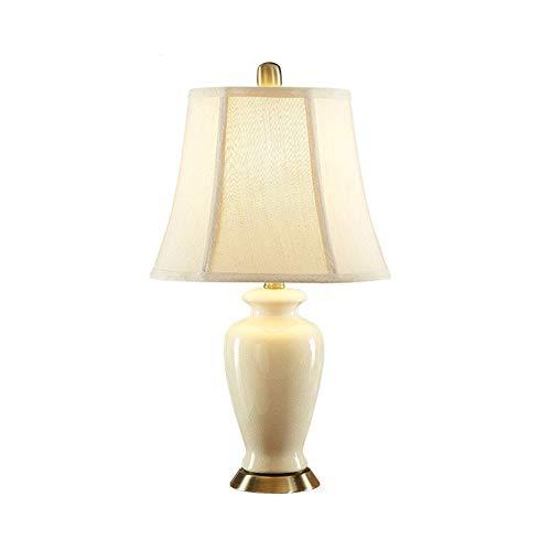 XIANGDONG Lámpara de Mesa salón Cerámica Sencilla lámpara de Escritorio, lámpara de cabecera del Dormitorio Cuarto de Hotel Lámpara Sala Decoración Creativa Moderna Simple E27 lámpara de Mesa