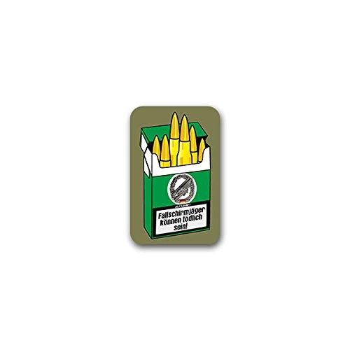 Copytec stickers/stickers - parachutejägers kunnen dodelijk zijn. Luchtlandetroepen Bundeswehr sigarettendoos patronen humor fun plezier groene duivel baretbadge soldaat uniform kantelen 5x7cm #A2589