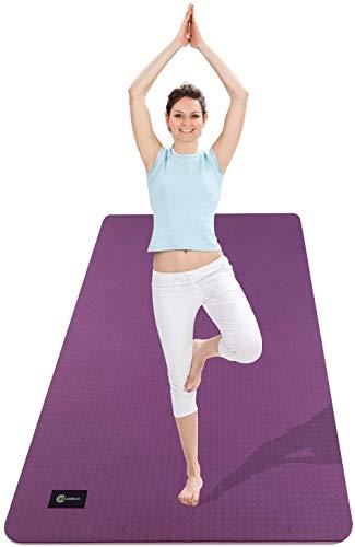 CAMBIVO Tappetino Yoga Fitness Extra Largo 183cm×80cm×6mm, Ecologico TPE Materiali, Tappetino Antiscivolo per Esercizi per Yoga, Pilates, Allenamenti