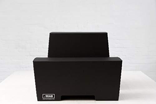 Stehschreibtisch MonKey Desk von ROOM IN A BOX - Medium/Schwarz: Faltbares ergonomisches Stehpult, praktischer Ständer für Laptop, PC, Tablet und Monitor, klappbarer Standing Desk für den Schreibtisch