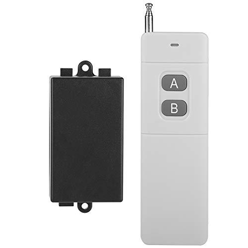 DELMO Interruptor de Control Remoto Inalámbrico 3Km de Largo Alcance Dc 12V 2Ch Rf Control Remoto Transmisor Y Receptor