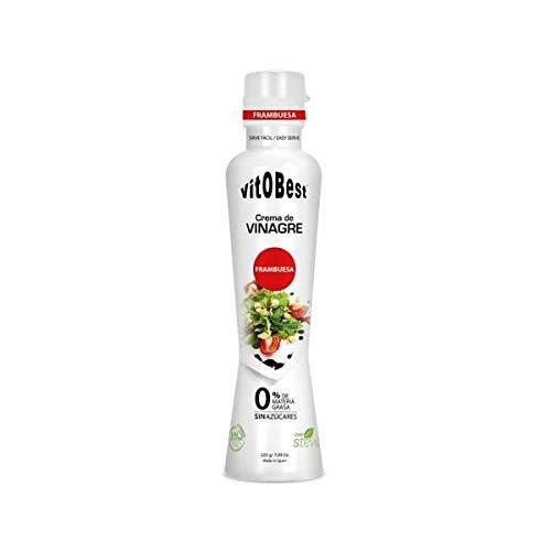 Crema de Vinagre varios Sabores- 0% Materia Grasa Sin Azúcar añadido - Suplementos Alimentación y Suplementos Deportivos - Vitobest (Frambuesa)