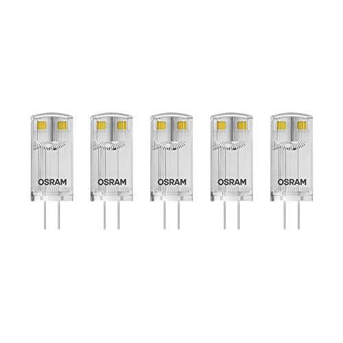 Osram LED Base Pin G4 12 V / Lampe, G4, 0, 90 W, 10-W-Ersatz - für, klar, Warm White, 2700 K, 5 - er-Pack