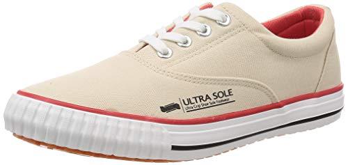 [マルゴ] 作業靴 紐付きスリッポン 撥水加工 耐滑 ウルトラソール 70 アイボリー 25 cm 3E