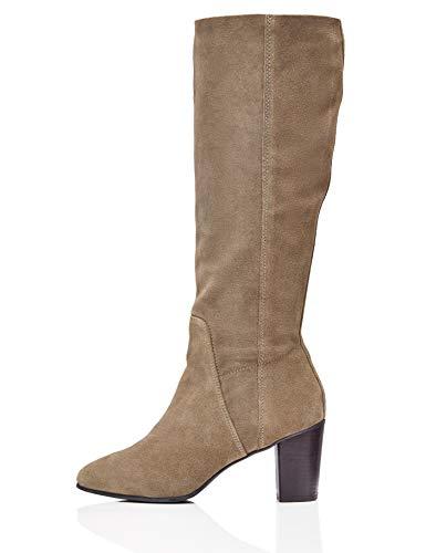 find. R3156 Damen Slouch Boots, Beige Taupe, 38 EU
