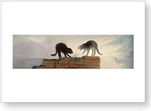 'Riña de gatos', impresión oficial del Museo del Prado