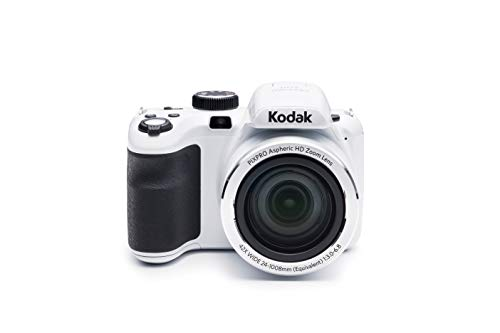 """KODAK PIXPRO Astro Zoom AZ421-WH 16MP Digital Camera with 42X Optical Zoom and 3"""" LCD Screen (White)"""