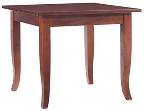 Tavolo tavolino Fisso Quadrato in Legno Noce Marrone 80x80 cm per Ristorante casa Cucina Salotto da Pranzo 4 Persone