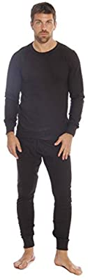 At The Buzzer Thermal Underwear Set for Men 95962-Black-M