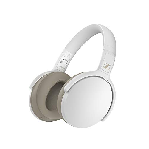Sennheiser HD 350BT Bluetooth 5.0 Wireless Headphone - 30-Hour Battery Life, USB-C Fast Charging, Virtual Assistant Button, Foldable - White (HD 350BT White)