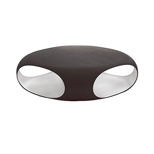 BONALDO tavolino Pebble grigio e bianco con contenitore da salotto design TD23