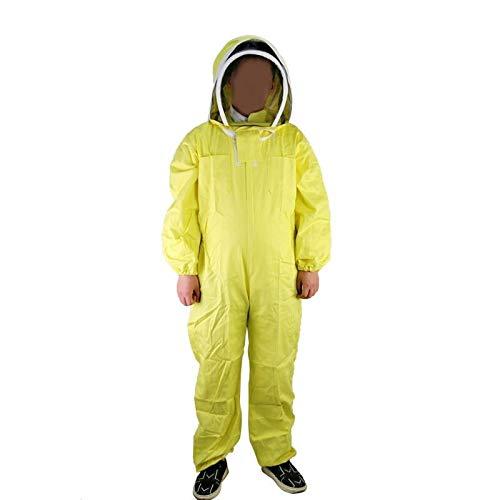 MINGMIN-DZ Dauerhaft Bienenzucht Anzug Bienenzucht Jacke und Schleier Hood Imker Anzug Outfit/for Hinterhof-Profi und Anfänger Imker/Gelb Bienenhaltung Jacke mit Schleiern Hood (Size : XXXL)