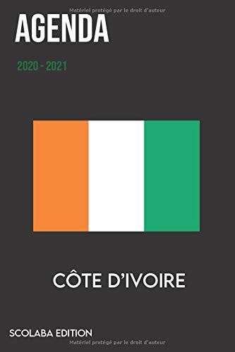 Agenda 2020 2021   Agenda Scolaire Journalier   Drapeau Côte d'Ivoire   Format 15,24 x 22,86 cm: Cahier pour une année scolaire réussie