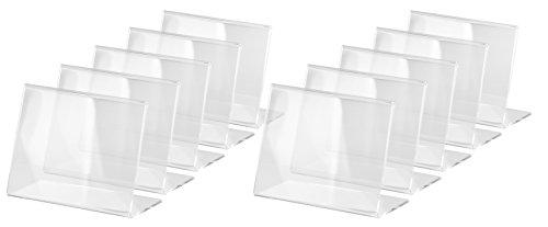 SIGEL TA217 Tischaufsteller schräg, für A7 quer, 10 Stück, glasklar Acryl - weitere Größen