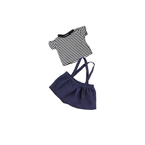 Unicoco 18 Zoll Puppenkleidung Mädchen Puppe Denim Kleidung Kleid Mit T-Shirts Puppenkleidung Outfits Für 18 Zoll American Girl Puppe 1set