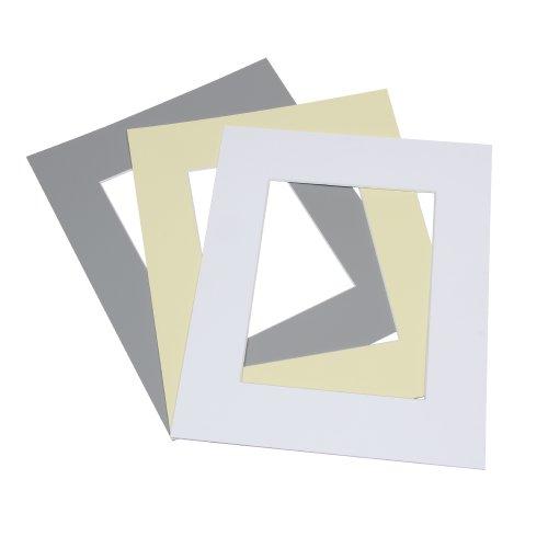 AlphaUVplus Premium Passepartout - 33 Farben mit individuellem Zuschnitt (AM: 28x35)