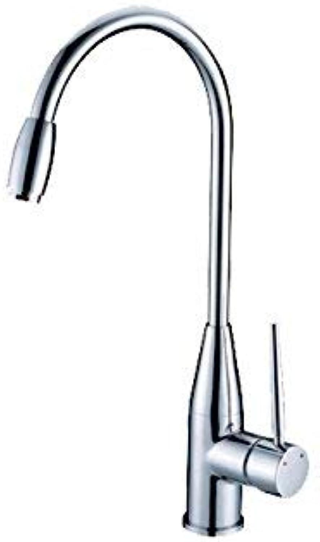 ZHAS Einfache Küche Küchenwaschbecken Wasserhahn hei und kalt Wasserhahn Wasserhahn hei und kalt Küchenhahn voll Kupfer Tpfe hei und kalt Wasserhahn Küche hei und kalt Wasserhahn