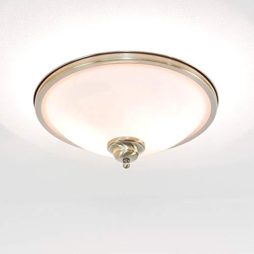 Edle Deckenleuchte in Bronze Jugendstil inkl. 2x 3W E14 LED Deckenlampe aus Metall & Glas für Esszimmer Schlafzimmer Flur Lampen Leuchte Beleuchtung innen