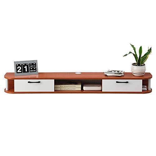 Mesa Televisión Mueble para TV Montado En La Pared para Sala De Estar,Fácil limpieza no ocupa espacio en el piso Estructura de riel de madera Durable Exquisito, soporte flotante para TV Estante para