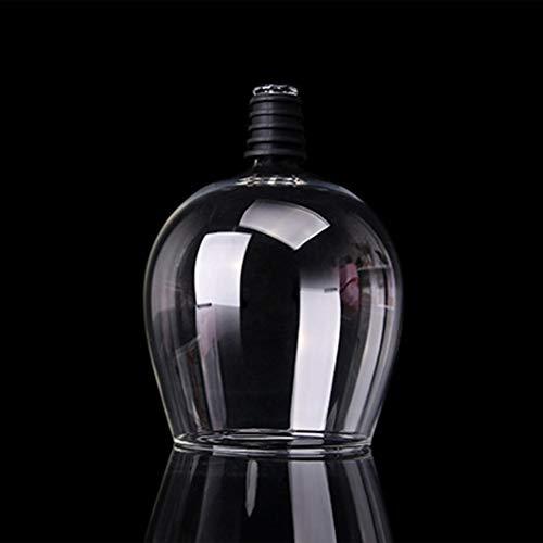 xingxing Copa creativa para vino tinto y champán con sello de silicona para beber directamente de la botella de fiesta, herramienta de barra de cristal, 401 – 500 ml (color: transparente)