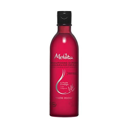 Melvita Shampoing Indigo Bio Cheveux Colorés/Cuir Chevelu Sensible