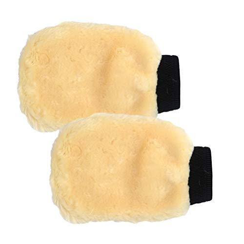 Guanti in microfibra per lavaggio auto, 2 pezzi, set di guanti da lavaggio per auto, moto, bicicletta, pulizia della casa