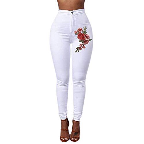 ITISME Jeans Donna Vita Alta Jeans Donna Taglie Forti Skinny Casual Applique Eleganti Elastico Moda Vintage Classica Stretch Jeans Donna Lungo Pantaloni Slim Fit Elastici Pantaloni