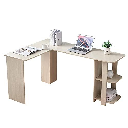 Mesa de centro pequeña L del escritorio de la esquina del escritorio de la computadora de la computadora de la computadora de la computadora Libres de dos capas Diseño del hogar Escritorio de oficina