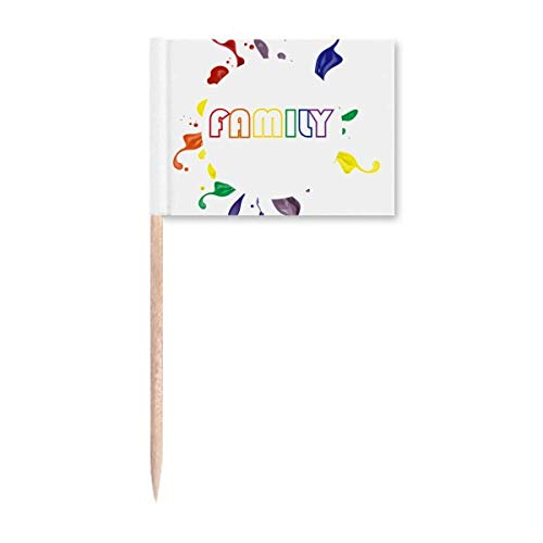 LGBT Regenbogenflagge Familie Art Deco Geschenk Fashion Zahnstocher Flags Marker Topper Party Dekoration