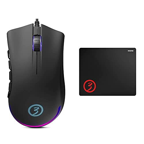 Oferta de OZONE GAMING Gear Raton Gaming Ozone Exon X90 - Esports Mouse Gaming + Ground Level M - Ozglevel - Alfombrilla para Gaming, Monótono