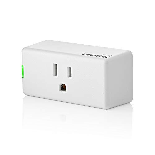 Leviton D26HD-2RW Decora Smart Wi-Fi Dimmer (2ª generación), funciona con Hey Google, Alexa, Apple HomeKit/Siri, y en cualquier lugar, no requiere concentrador, cable neutro, blanco