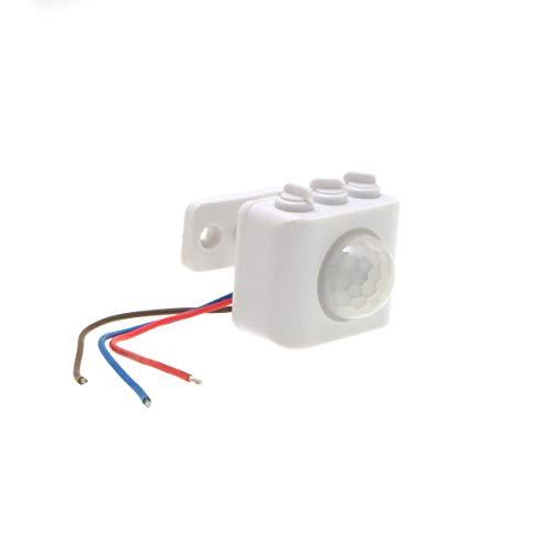 後付け(小型タイプ) 人感センサー スイッチユニット 照明器具用 PIR人感・明るさセンサー両搭載 離れた場所の照明器具を点灯 AC100V 50/60Hz 消費電力100Wまでの機器に対応 (1個)