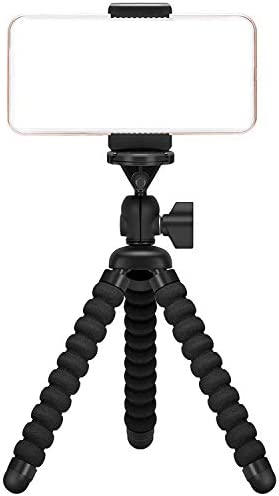 Ailun Phone Camera Tripod Mount/Stand,Compact Phone Holder,Compatible for iPhone 11 12 Pro Max mini and More Cellphone&Camera