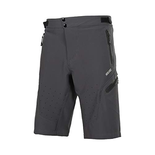 ARSUXEO Outdoor Sports Men's MTB Cycling Shorts Mountain Bike Shorts Water Resistant Gray Size Medium