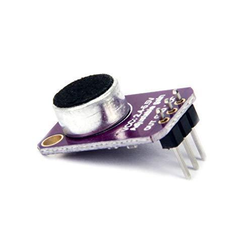 TeOhk 2Pcs MAX4466 Electret Módulo Amplificador de Micrófono -Alta AVOL Ajustable Salida Kit para