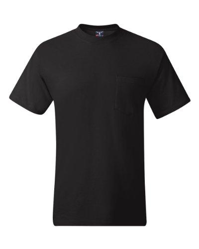 Hanes TAGLESS 6.1 Short Sleeve T-Shirt w/ Pocket