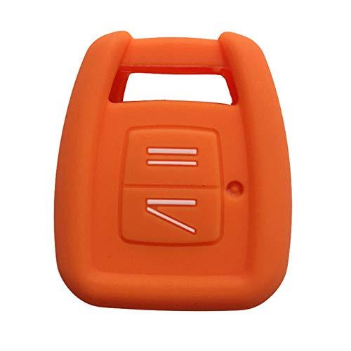 RWJFH Funda de Silicona para Llaves Fundas de Silicona para Llaves de Coche para Opel Vauxhall Astra Zafira Vectra Tigra Holden Funda para Llaves para Llavero, Alarma remota, Naranja