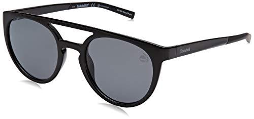 Timberland heren TB9163 zonnebril, zwart (Shiny Black/Smoke Polarized), 53