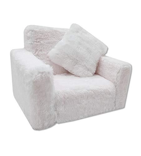 Odolplusz Kindersessel Mini-Sessel Kinderstuhl Relaxsessel Kuschelsessel (White)
