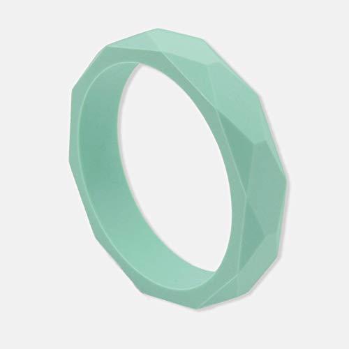 Pulsera de dentición de silicona verde menta elegante para madres