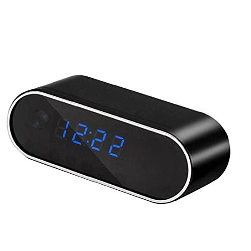 Berrywho Reloj de la cámara de WiFi ocultado sin Hilos LED de la visión Nocturna de Alarma de la cámara HD 1080P niñera para la Seguridad casera Monitor de Video Recorder