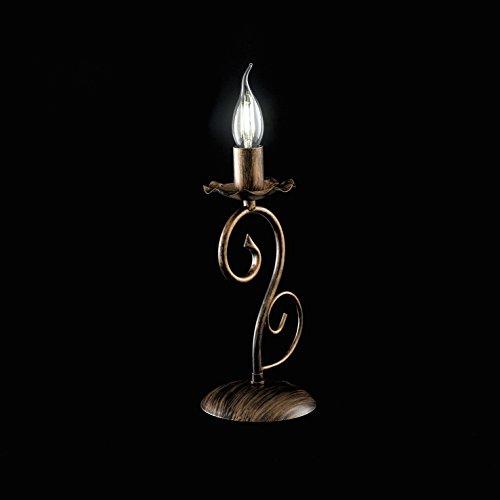 luceart Alma Lumetto Table, noir/cuivre