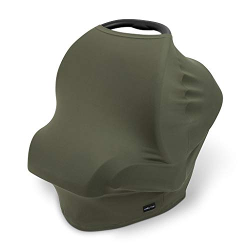 Simka Rose Car Seat Canopy Nursing Cover - Multi Use Cover - Baby Breastfeeding Cover - Ultra Soft and Stretchy (Moss)
