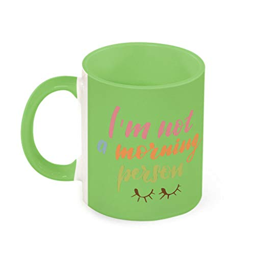 11 OZ No Morning Person Coffee Cup Porcelain Personalised Mug – Sarcasm Funny Setik Girls Gifts Chartreuse 330 ml