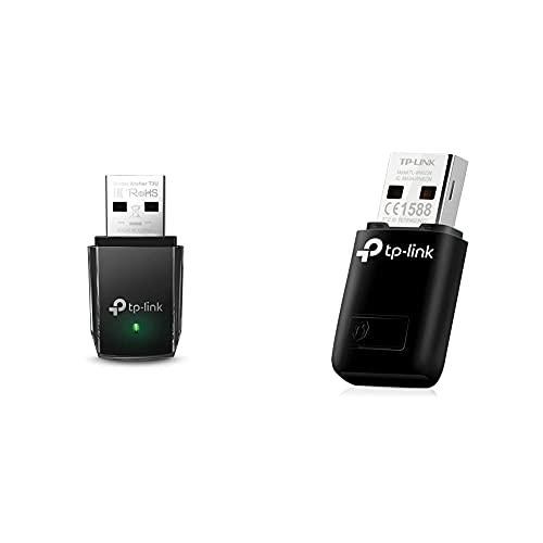 TP-Link Clé WiFi Puissante AC1300 Mbps, Adaptateur USB WiFi, dongle WiFi, USB 3.0 & Clé WiFi Puissante N300 Mbps, Mini Adaptateur USB WiFi, dongle WiFi, Bouton WPS, Compatible avec Windows 10/8.1/8/7