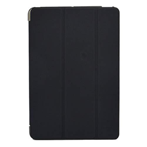 Triamisui Nuevo Estuche de Cuero Ultra Delgado de Triple Pliegue de PU con Soporte de Cristal Duro para Smart Back Funda para iPad Mini 1 2 3 7.9 Cubierta con Tapa para Tableta