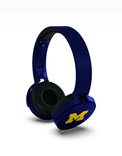 NCAA Michigan Wolverines Wireless Bluetooth Headphones, Team Color