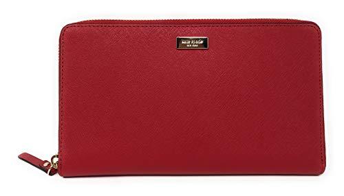 Kate Spade Kaden Laurel Way Leather Zip Around Travel Wallet in Hot Chili
